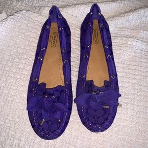 Coach Purple Carisa flat